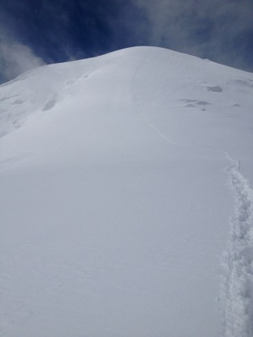 The big climb to Camp 3, taken on the return to Camp 2