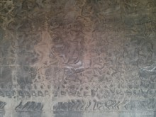 Angkor Archaeological Park - Angkor Wat carving 1