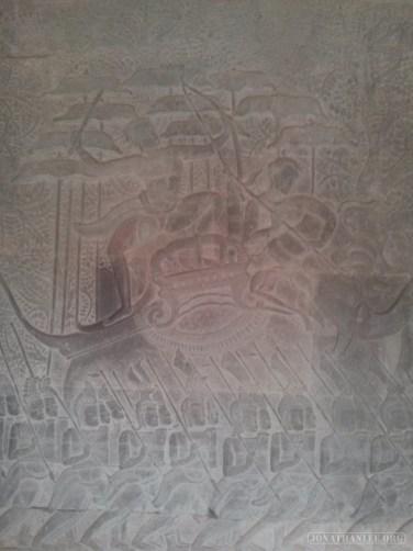 Angkor Archaeological Park - Angkor Wat carving 2
