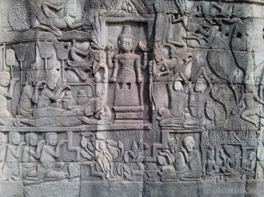 Angkor Archaeological Park - Bayon carving 7