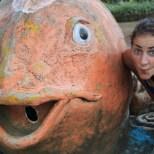 Bali travel - lake temple fish 2