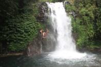 Bali travel - waterfall jumping 2