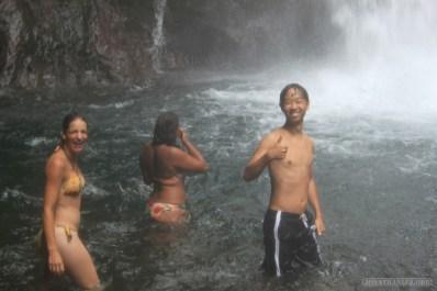 Bali travel - waterfall jumping 3