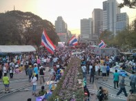 Bangkok again - Lumphini park protests rally 2