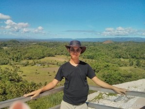 Bohol tour - chocolate hills portrait 2