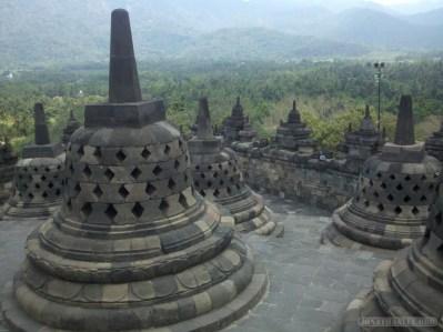 Borobudur - stupas scenery 2