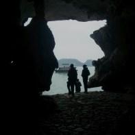Cat Ba - Halong Bay tour cave view out