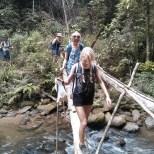 Chiang Mai trekking - day 1 river crossing 3