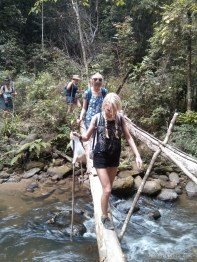 Chiang Mai trekking - day 1 river crossing 3