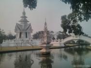 Chiang Rai - white temple pond 2