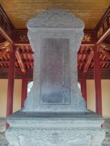 Hue - Minh Mang tomb steele