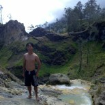 Mount Rinjani - hot springs portrait