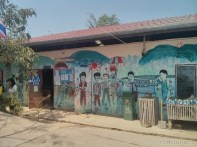 Pang Mapha - exploring Red Lahu village mural