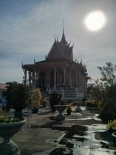 Phnom Penh - royal palace building in sun