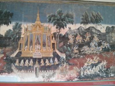 Phnom Penh - royal palace mural 1