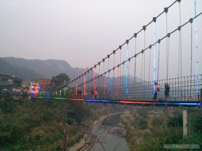 Pingxi - Shifen Jing An suspension bridge