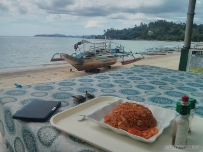 Port Barton - jambalaya on the beach