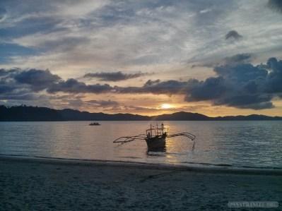 Port Barton - sunset 1