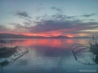 Port Barton - sunset glow