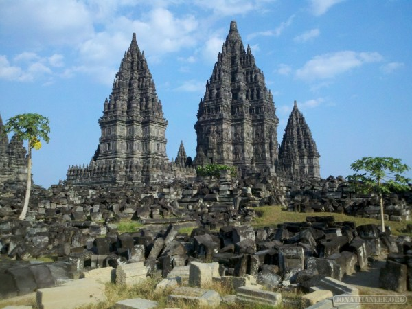 Prambanan - landscape with rubble