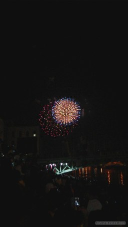 Saigon during Tet - fireworks 1