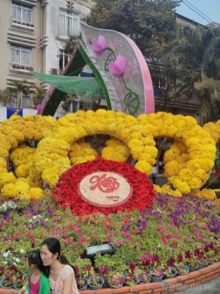 Saigon during Tet - flower street 3