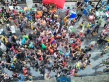 Songkran in Bangkok - Silom from above 14