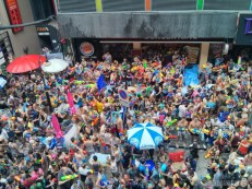 Songkran in Bangkok - Silom from above 16