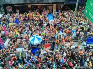 Songkran in Bangkok - Silom from above 17