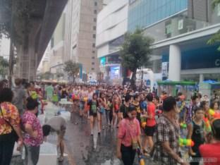 Songkran in Bangkok - Silom street 1