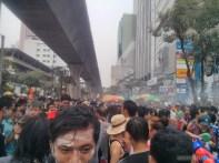 Songkran in Bangkok - Silom street 3