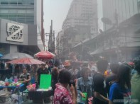 Songkran in Bangkok - Silom water cannon 2