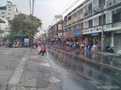 Songkran in Bangkok - regular street 2