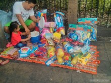 Songkran in Bangkok - water guns for sale 1