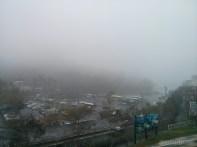 Sun Moon Lake - fog covered parking lot