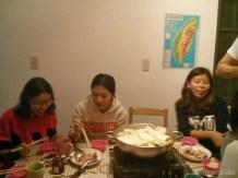 Taichung - hostel hotpot dinner