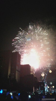 Taipei 101 New Years fireworks - fireworks 13