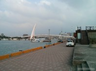 Taipei - Tamsui fishermans wharf lovers bridge