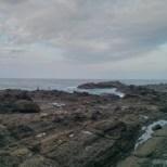 Taitung - Sanxiantai fisherman on the rocks