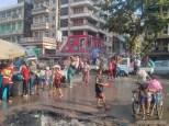 Thingyan in Yangon - main street 2