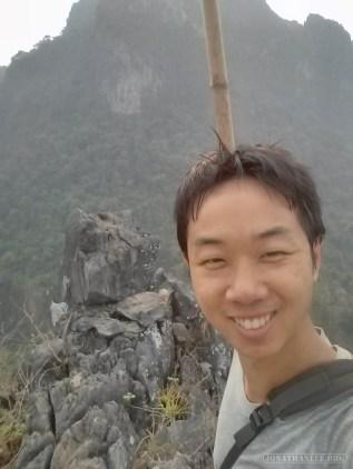 Vang Vieng - Pha Poak peak portrait 1
