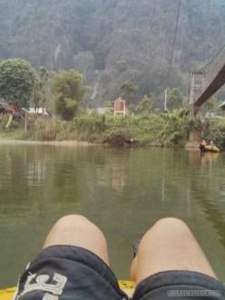 Vang Vieng - tubing on river 3