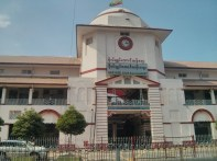 Yangon - Bogyoke market closed