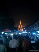 Yangon - Shwedagon pagoda at night 1