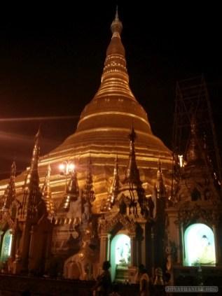 Yangon - Shwedagon pagoda at night 12