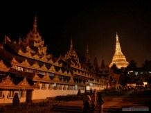 Yangon - Shwedagon pagoda at night 2