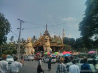 Yangon - Shwedagon pagoda north entrance