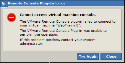 VMware Server 2 Error: Cannot access virtual machine console | Blog Jon