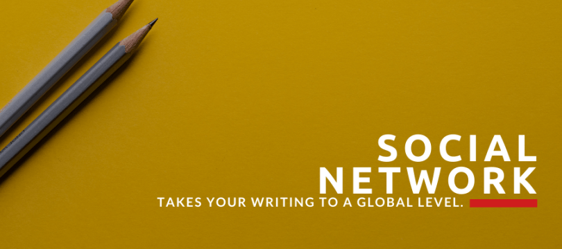 social networks get your writing noticed.