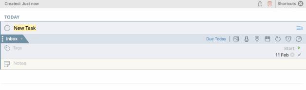 Adding a task on the 2Do Mac App